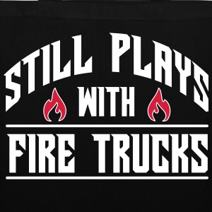 Still plays with fire trucks Tassen & rugzakken - Tas van stof