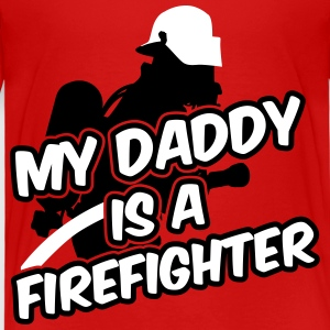 My daddy is a firefighter T-shirts - Børne premium T-shirt