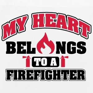 My heart belongs to a firefighter Tassen & rugzakken - Bio stoffen tas