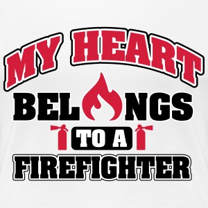 My heart belongs to a firefighter T-Shirts - Frauen Premium T-Shirt