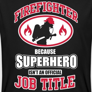 Firefighter. Because superhero isn't a job title T-shirts - Organic mænd