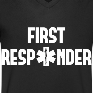 first responder T-Shirts - Men's V-Neck T-Shirt