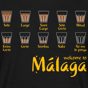 Welcome to Malaga (red) Tee shirts - T-shirt Homme