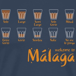 Welcome to Malaga (blue) T-Shirts - Men's Premium T-Shirt