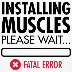 Installing Muscles (Fatal Error) T-shirts - Organic mænd