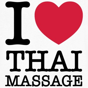 I (Heart) Thai Massage T-Shirts - Men's V-Neck T-Shirt