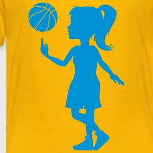 Basketball Girl Shirt - Kinder Premium T-Shirt