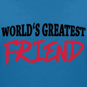 World's greatest friend T-shirts - T-shirt med v-ringning dam