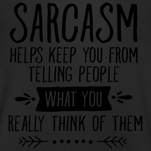 Sarcasm Helps Keep You From Telling People... T-shirts - Mannen T-shirt met V-hals