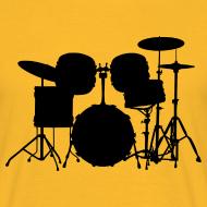Motiv ~ Drumset 1 Kontur Shirt (Herren)