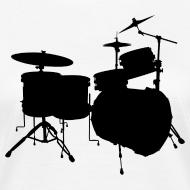 Motiv ~ Drumset 2 Kontur Bio-Shirt (Damen)