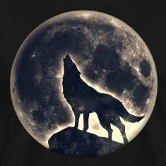 Howling Wolf, full moon, wolves, native, Indians T-Shirts