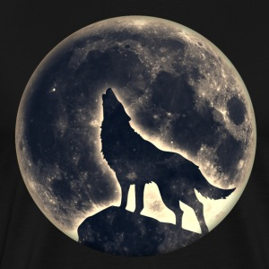 Howling Wolf, full moon, wolves, native, Indians T-Shirts - Men's Premium T-Shirt