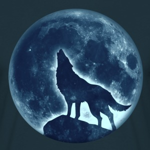 Howling Wolf, full moon, wolves, native, Indians T - Men's T-Shirt