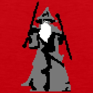 gandalf pixelart Tank Tops - Men's Premium Tank Top