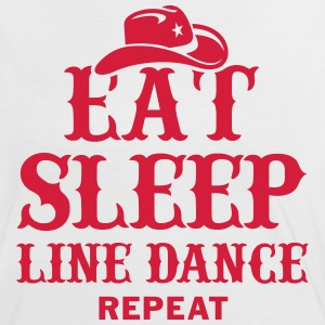 EAT, SLEEP, LINE DANCE. REPEAT T-Shirts - Frauen Kontrast-T-Shirt