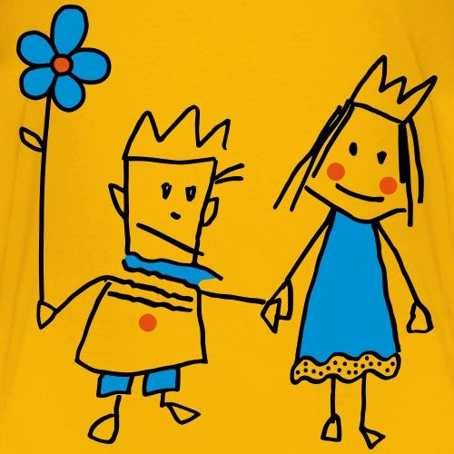 Strichmännchen Königin Paar Valentinstag Graffiti
