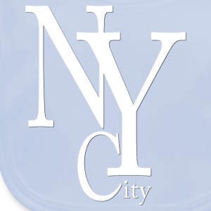 New York City blanc2 Accessories - Baby Organic Bib