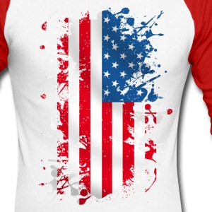 united states 011 Manches longues - T-shirt baseball manches longues Homme