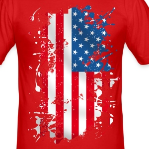 united states 011 Tee shirts - Tee shirt près du corps Homme