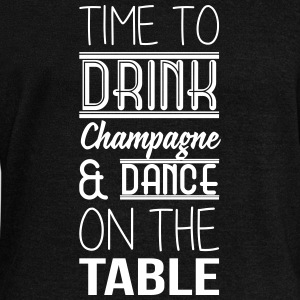 Time to drink champagne and dance on the table Sweat-shirts - Pull Femme col bateau de Bella