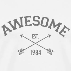Awesome Est 1984 T-shirts - Herre premium T-shirt