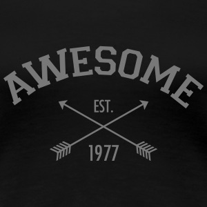 Awesome Est 1977 T-Shirts - Women's Premium T-Shirt