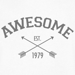 Awesome Est 1979 T-shirts - Mannen T-shirt met V-hals