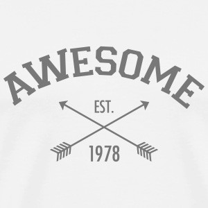Awesome Est 1978 T-skjorter - Premium T-skjorte for menn