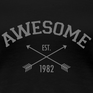 Awesome Est 1982 T-Shirts - Women's Premium T-Shirt