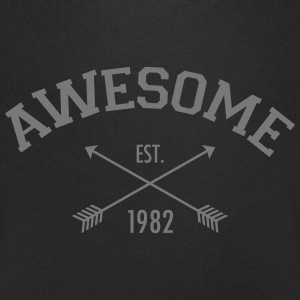 Awesome Est 1982 T-shirts - Mannen T-shirt met V-hals