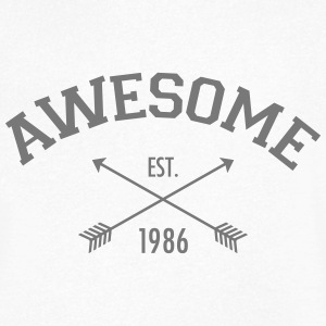 Awesome Est 1986 T-Shirts - Men's V-Neck T-Shirt