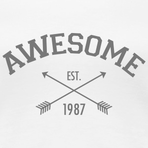 Awesome Est 1987 T-shirts - Dame premium T-shirt