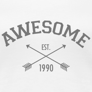Awesome Est 1990 T-skjorter - Premium T-skjorte for kvinner