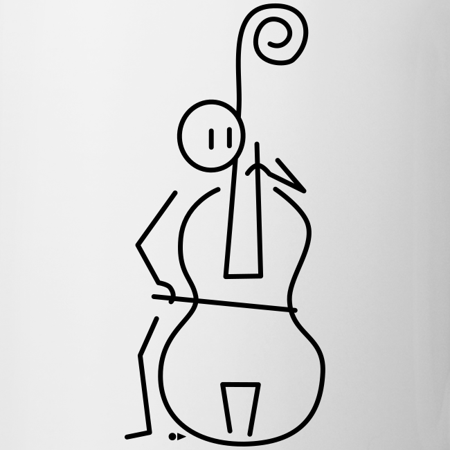 Double bassist [single-sided]