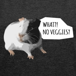 What? No Veggies? Harvey - Shirt - Frauen T-Shirt mit gerollten Ärmeln