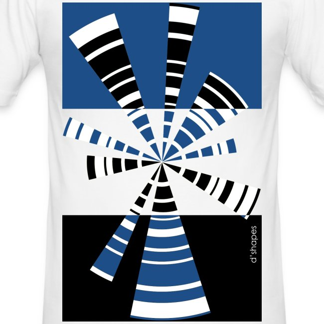 Radio Blue - Man Slim T-shirt