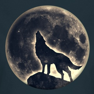Lobo, luna llena, wolf, full moon, wolves, native, Camisetas - Camiseta mujer