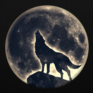 Wolf full moon, wolves, native, Indians, wild, dog Bags & Backpacks - Tote Bag