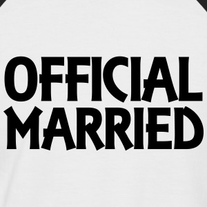 Official married T-Shirts - Männer Baseball-T-Shirt