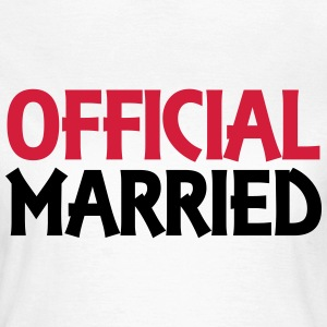 Official married Camisetas - Camiseta mujer