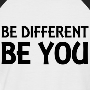 Be different - be you T-shirts - Mannen baseballshirt korte mouw