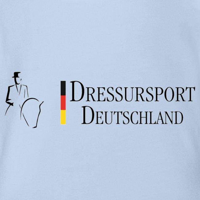 Dressursport Deutschland Babybody Kurzarm rot