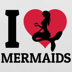 I love Mermaids Sacs et sacs à dos - Tote Bag