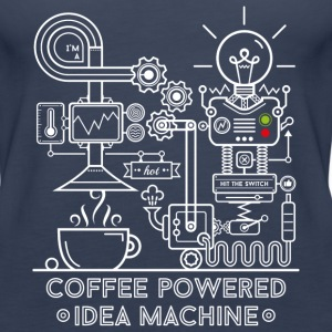 Navy Coffee powered Idea Machine Tops - Vrouwen Premium tank top
