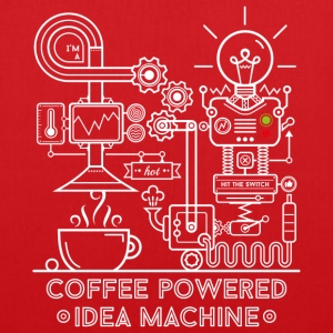 Rood Coffee powered Idea Machine Tassen & rugzakken - Tas van stof
