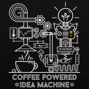 Noir Coffee powered Idea Machine Sacs et sacs à dos - Tote Bag
