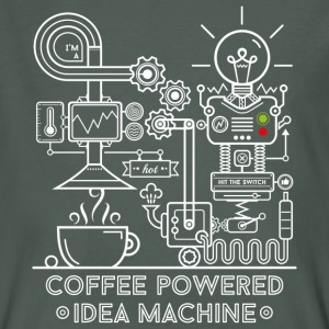 Carbón Coffee powered Idea Machine Camisetas - Camiseta ecológica hombre