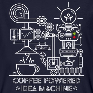 Marinblå Coffee powered Idea Machine T-shirts - Ekologisk T-shirt herr