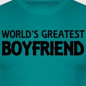 World's greatest boyfriend T-skjorter - T-skjorte for menn